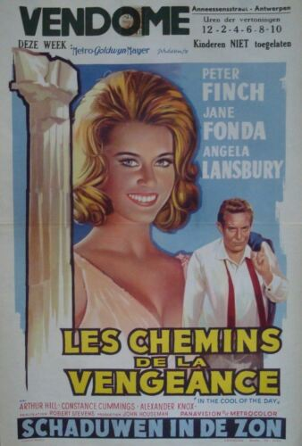 IN THE COOL OF THE DAY Belgian movie poster 14x22 JANE FONDA PETER FINCH 1963