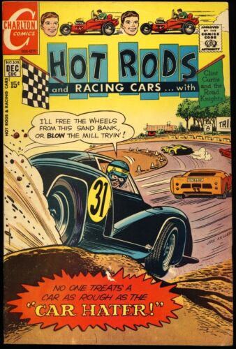 """HOT RODS AND RACING CARS #105 1970 FN/VF """"Car Hater"""" CHARLTON COMICS"""