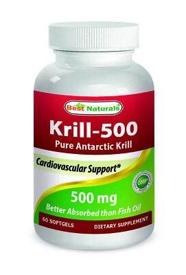 Best Naturals Krill Oil 500 mg 60 Softgels *Highest Level of Omega