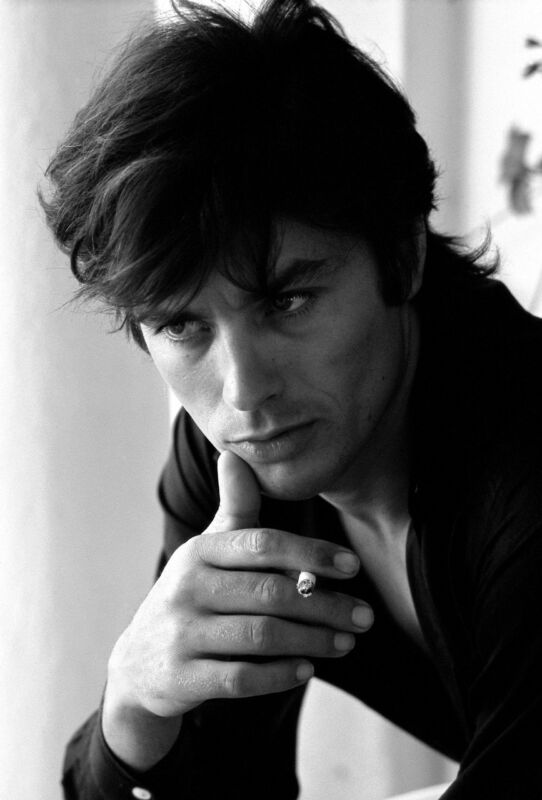 Alain Delon Posing With Cigar In Hand 8x10 Photo Print