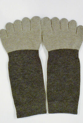 Bamboo Microbial Toe Socks- Black and Gray