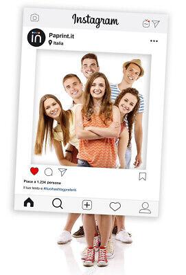 Cornice Photo Booth Instagram Selfie Frame Personalizzata 50x70 cm in pvc