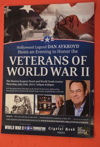 Dan Aykroyd Signed Autographed World War II WWII Foundation Event Poster COA