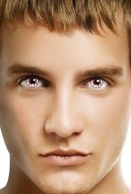 Mens Ladies Blood Shot Red Vamp Halloween Carnival Fancy Dress Costume Eye Wear - Eye Makeup Halloween Men