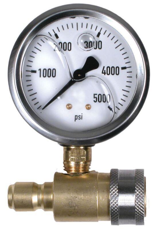 "Valley 5,000 PSI 2.5"" Pressure Gauge Test Set with QC"