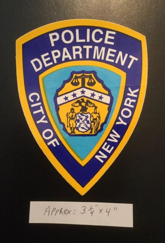 NYS NYPD NYC Police Department Outside *OFFICIAL Decal Sticker