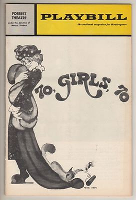 """70, Girls, 70""  TRYOUT  Playbill  1971 David Burns Last Role  Kander & Ebb FLOP"
