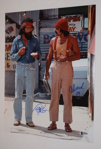 Cheech Marin & Tommy Chong Signed Autographed 11x14 Photo UP IN SMOKE BAS COA