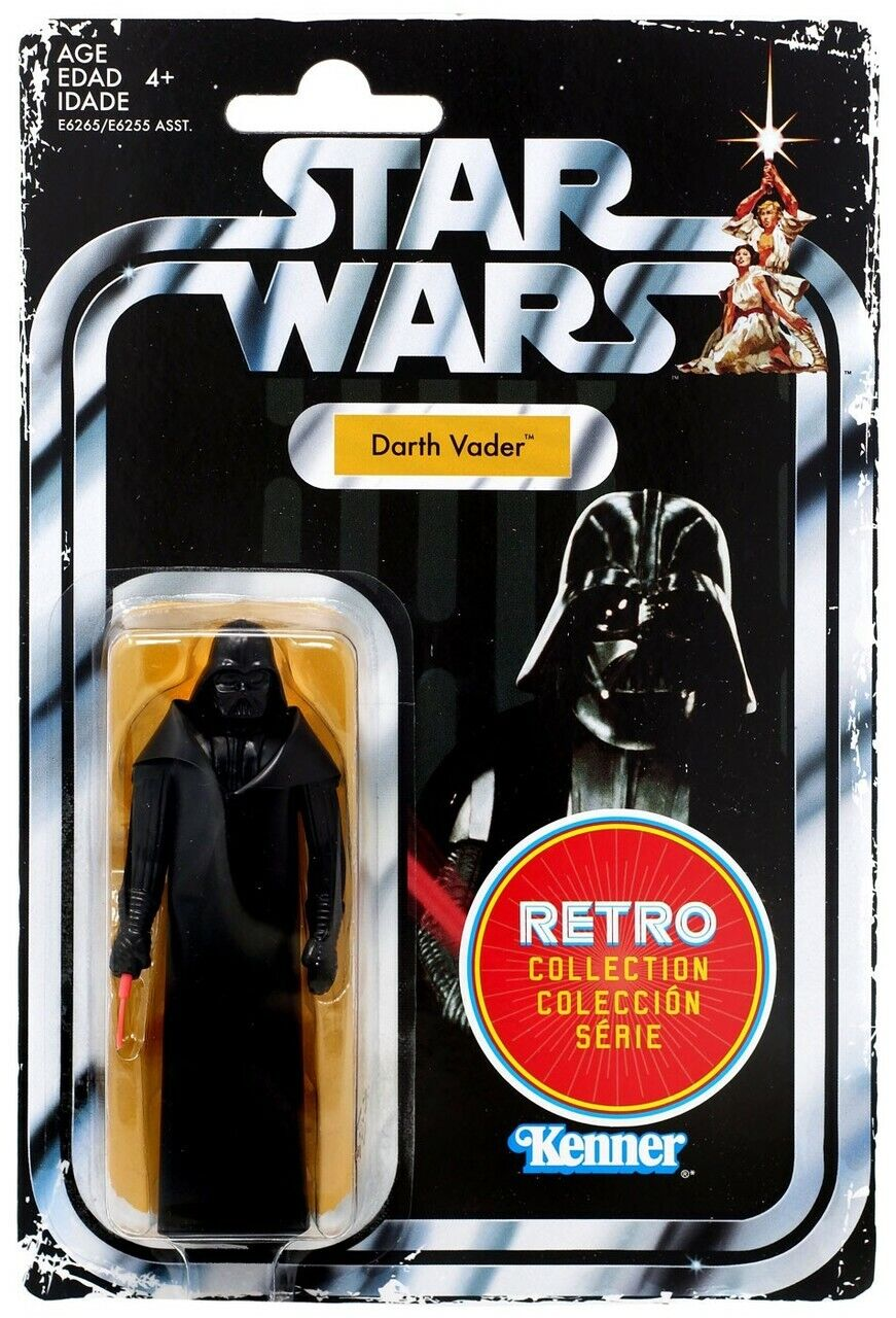Star Wars Darth Vader Custom made 3.75 WHITE Vintage Kenner Style Figure