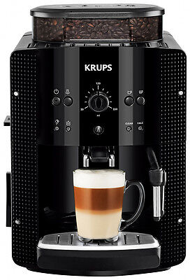 Krups EA 8108 Kaffeevollautomat Piano Schwarz 8 Tassen CappuccinoPlus Milchdüse