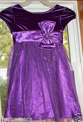 Jona Michelle Girls Special Ocasion Dress Mesh Purple Sz 6 Knee-length - Special Ocasion Dresses