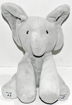 Baby GUND GRAY FLAPPY THE ELEPHANT Animated INTERACTIVE SINGING PLUSH Baby Toy
