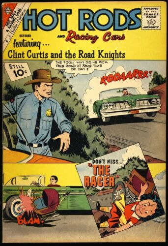 """HOT RODS AND RACING CARS #54 1961 FN+ """"The Racer"""" CHARLTON COMICS"""