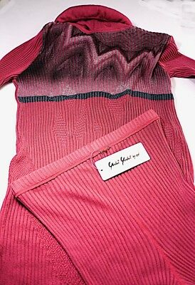 YOSHI YOSHI by PJ Fuchsia Lyocel Blend Leggings T-neck Sweater Set  S/M NWT $507