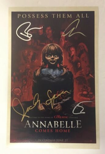 Annabelle Comes Home Cast Signed 11X17 Photo Poster Patrick Wilson +3 COA