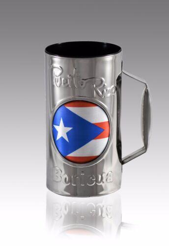PUERTO RICO FLAG Mojito / Beer Glass Guiro Cup With Holder & Scraper - MUSIC MUG