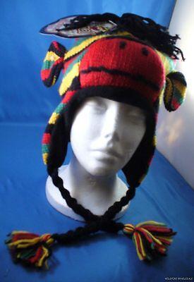 Wholesale Lot Of 6 Rasta Sock Monkey Hat Knit Plush Winte...
