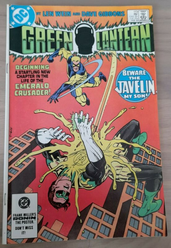 GREEN LANTERN #173 (1984) 1ST APPEARANCE JAVELIN. SUICIDE SQUAD 2 MOVIE. FN+/VF-