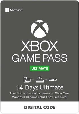 Xbox Game Pass Ultimate 14 Days Code Live Gold + Game Pass for Xbox One & win 10