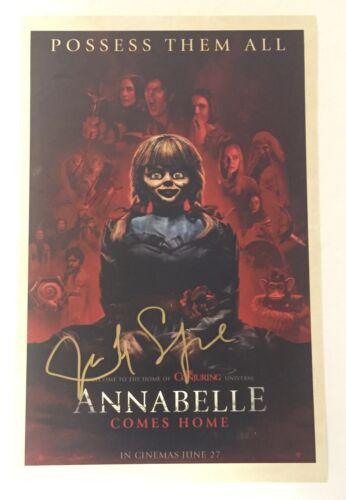 James Wan & Judy Spera Warren Annabelle Comes Home Signed 11X17 Photo Poster COA