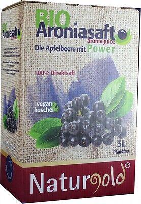 Bio Succo di aronia Succo di frutta 3L Bag nella scatola