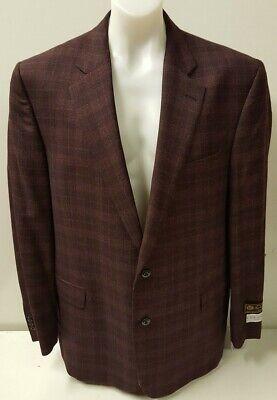 NEW Jack Victor Berry MERINO Plaid Sport Coat Suit Jacket Blazer 48L RRP £960