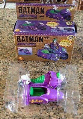 Vintage 1990 Toy Biz Batman Joker Cycle MIB