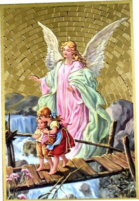 Guardian Angel Traditional Mosaic Wall Plaque with Prayer