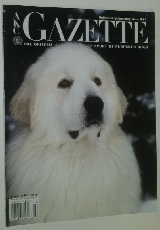 AKC Gazette Magazine Great Pyrenees Cover + Articles Oct. 2002 Anne Bowes