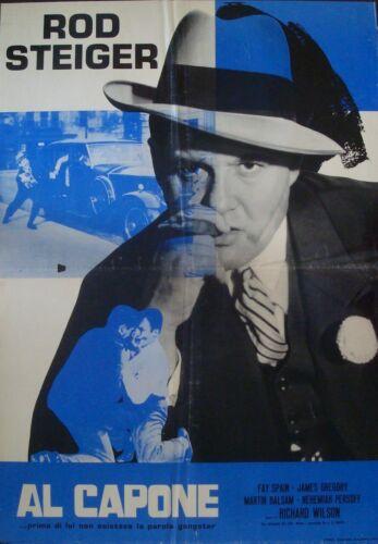 AL CAPONE Italian 1F movie poster ROD STEIGER R66