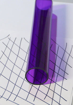 1 Pc 2 Od X 1 34 Id X 12 Inch Clear Purple Acrylic Plexiglass Lucite Tube