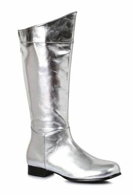 Silver Surfer Mr Freeze Super Hero Comic Book Costume Boots Mens size 9 10 11 - Silver Surfer Costume
