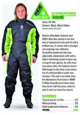 Richa Typhoon 100% Waterproof Motorcycle Over Suit (Ride Best (Best Waterproof Motorcycle Suit)
