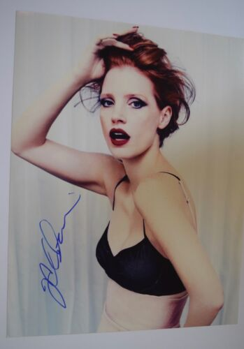 Jessica Chastain Signed Autographed 11x14 Photo INTERSTELLAR THE MARTIAN COA VD