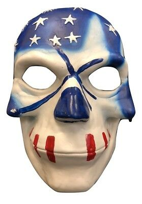 UK THE PURGE FIBREGLASS USA FLAG MOVIE FANCY DRESS UP MASK CHILD ADULT HALLOWEEN