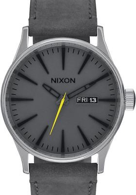 NEW Nixon Sentry Leather Charcoal | AUTHORIZED DEALER