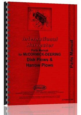 International Harvester Disk Plow Parts Manual Ih-p-disk Plow