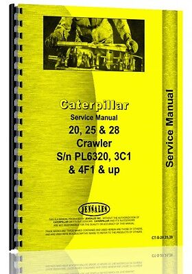 Caterpillar 20 Sn Pl6320 25 Sn 3c1 28 Sn 4f1 Crawler Service Manual