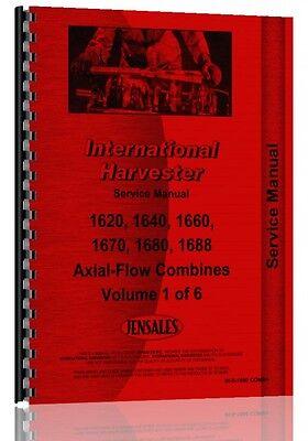 International Harvester 1660 Combine Service Manual Ih-s-1660 Comb
