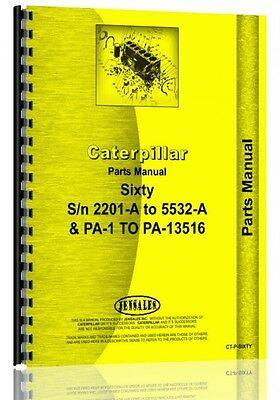 Caterpillar 60 Crawler Parts Manual Sn 2201a
