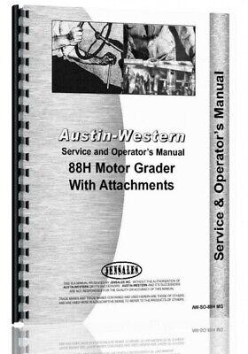 Service Operators Austin Western 88h Grader Manual Sn H88152 Up