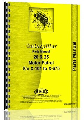 Caterpillar 20 Grader Parts Manual Sn X101-x675