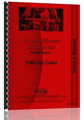 International Harvester Cub Cadet 1100 Lawn Garden Service Manual