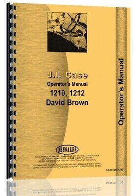 Case David Brown 1210 1212 Tractor Owners Operators Manual