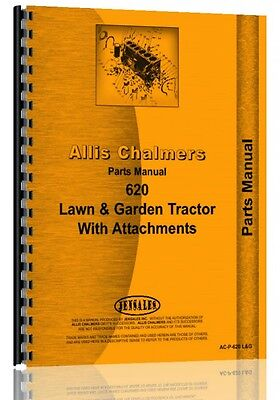 Allis Chalmers 620 Lawn Garden Tractor Parts Manual Ac-p-620 Landg