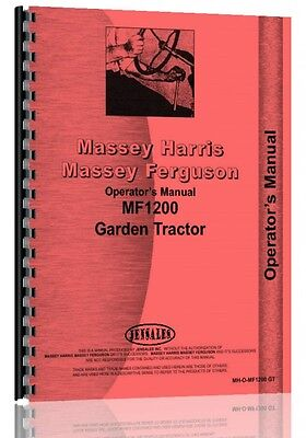Massey Ferguson 1200 Lawn Garden Tractor Operators Manual