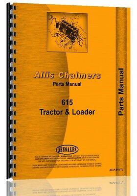 Allis Chalmers 615 Tractor Loader Parts Manual Ac-p-615 Tl