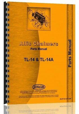 Allis Chalmers Tl-14 Tl-14a Wheel Loader Sn0-1525 Parts Manual