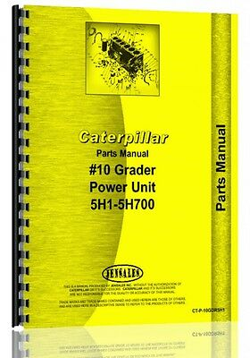 Caterpillar 10 Grader Parts Manual Sn 5h1-5h700
