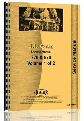 Case 770 870 Gas Diesel Tractor Service Manual Ca-s-770 870